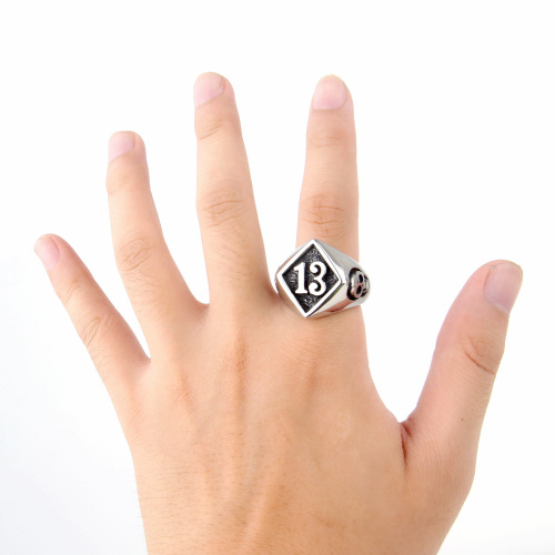 stainless steel college ring