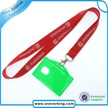 Correia do cartão da identificação do poliéster da promoção