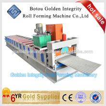 Machine de formage de rouleaux de toiture en aluminium