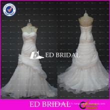 ED Bridal Real Sample Sweetheart A Line Robe d'orgue fleurs Robes de mariée pas cher 2017