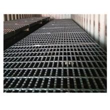 6x1mtr open ends black steel grating panels