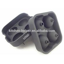 2015 CALIENTE de venta de silicona de alta calidad del molde de la bola de hielo para el helado
