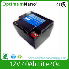 Rechargeable MSDS 12V 40ah LiFePO4 Battery Pack