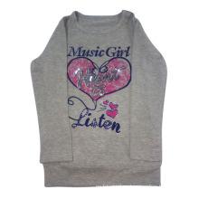 Camiseta estampada para niña en ropa de niños (LTG001)
