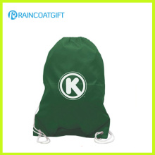 Cheap Custom Logo Printed Polyester Drawstring Football Backpack Bag