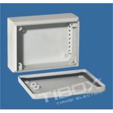 Caja de conexiones de acero sin agujero de prensaestopas