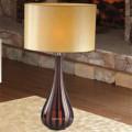 Vintage Hotel Decorative Brown Stripe Glass Bedside Table Lamp