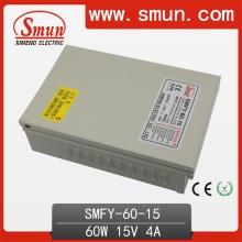 60W 15V 4A impermeable CCTV IP67 fuente de alimentación de conmutación