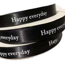 """WY2281Hot  selling 1/2"""" colorful  fashion  custom printed satin ribbon for gift packing"""