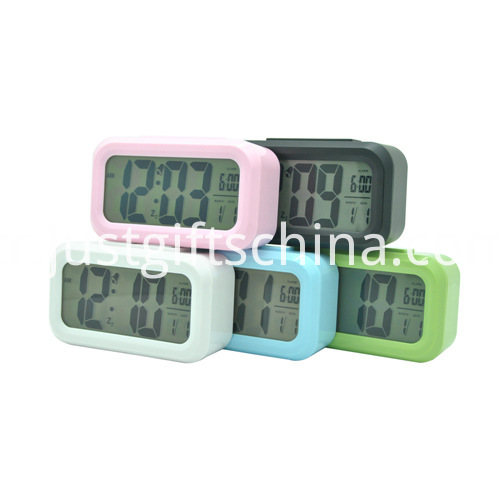 Promotional Colorful Plastic Lcd Clock_2