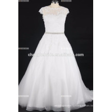Beautiful Sweetheart Sleeveless Appliques Tulle Designer Wholesale Wedding Dress