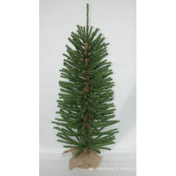 Jute Wrap Base Artificial Arbre de Noël avec String Light Décoration LED Multi Color (AT2029)