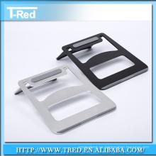 Soporte de lujo del soporte de la computadora portátil de aluminio para la tableta de la manzana, tenedor del soporte de ordenador portátil