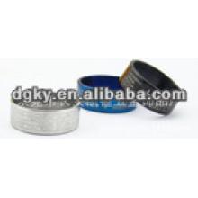 Anéis retatable de titânio em aço inoxidável com palavras bíblicas