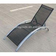 Chaise longue en aluminium textoline