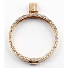 Colgante Locket de borde delgado de moda con joyas llenas de Zironia