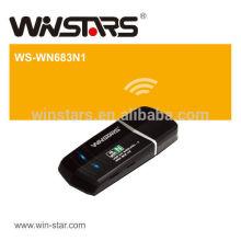 Adaptador Wireless-N Mini USB 2.0 de alta velocidade de 150Mbps, Configuração Protegida WiFi (WPS) simplifica a configuração e a operação