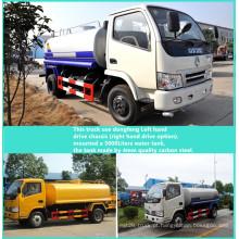 Caminhão tanque de água de Dongfeng 4x2 LHD 3300 mm distância entre eixos 5000liters