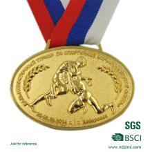 Custom Design Zink-Legierung Medaille mit geprägten Logo