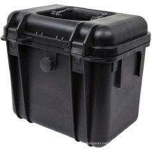 Black hard abs plastic storage tooling case IP67 waterproof foam tool case with handle