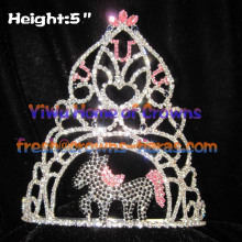 5inch Horse Shaped Pageant Crowns