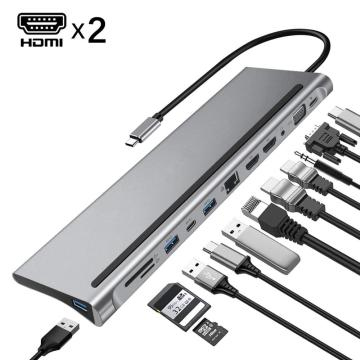 HUB USB C 12 EN 1 pour Macbook