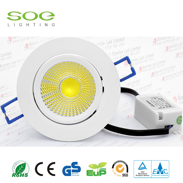 10W putaran Dimmable cob Led Downlight