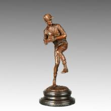 Sport-Statue Baseball-Pitcher Bronze-Skulptur, Milo TPE-766