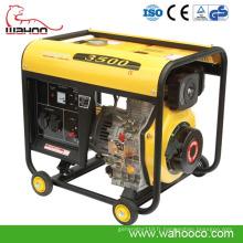 CE petit générateur diesel approuvé par 3kw (WH3500DG)