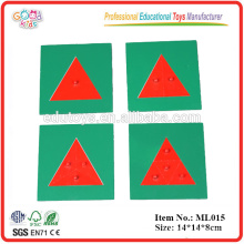 Educational Toys Montessori Metal Triangles game Language Materials