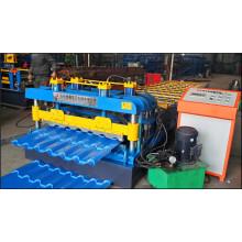 Überdachung galvanisierte gewellte Stahlblech-Fliese, die Maschine Farbstahlwalzmaschine herstellt