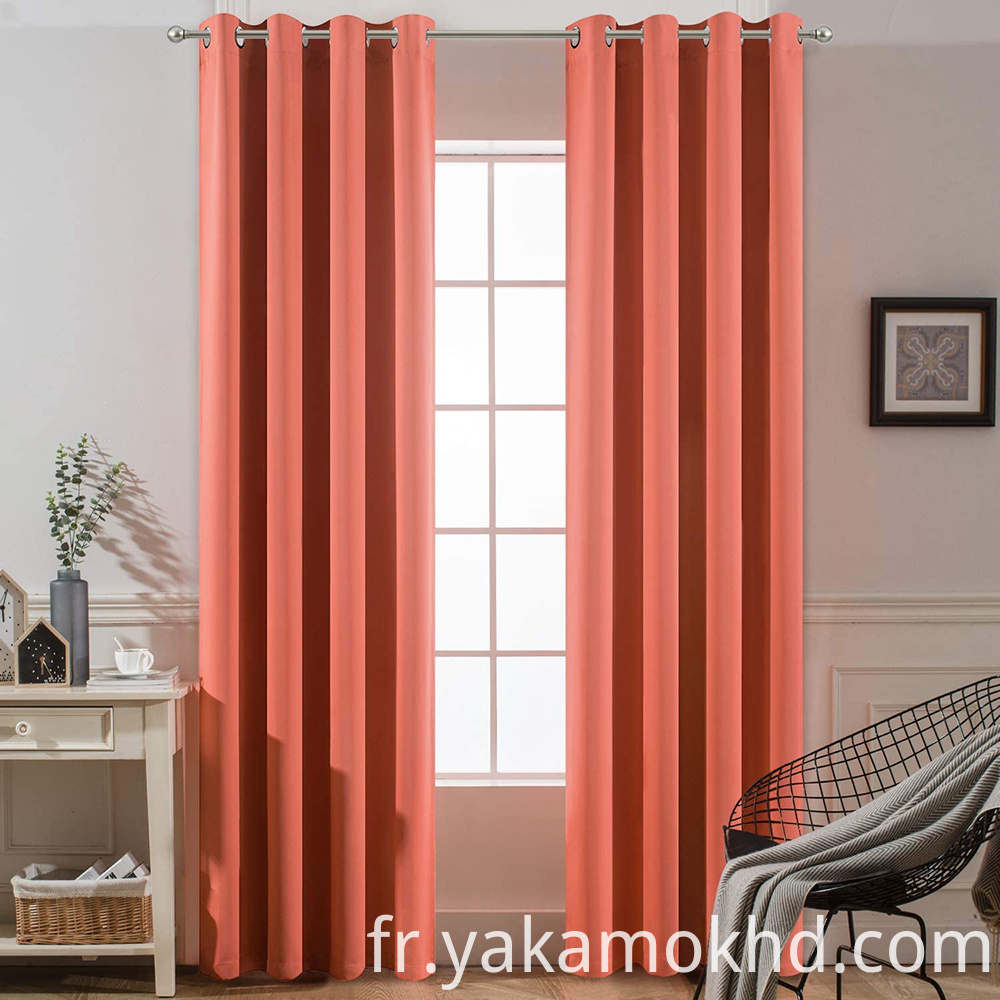 Coral Blackout Curtains