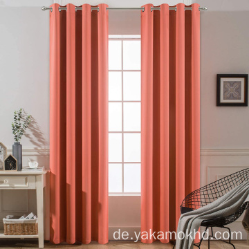 Coral Blackout Curtains 84 Zoll lang