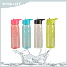 Everich 750ml bouteille de sport tritan avec paille, bouteille d'eau énergétique, flip-top water bottle