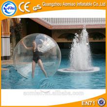 Transparent tpu / pvc grande boule gonflable d'eau zorb, prix de balle d'eau