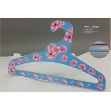 Cheap Light Weight Cartoon Flower Paper Clothes Top Hanger