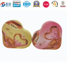 Mould Existing Heart Shaped Metal Tin Container for Chocolate Packaging