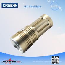 Jexree goldene LED lange Reichweite wiederaufladbare Fackel 3200 Lumen LED Fackeln hohe Leistung