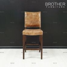 Nouveau design mobilier antique velours cuir bar chaise