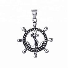 33422 xuping venda quente moda jóias de aço inoxidável preto arma cor legal pingente