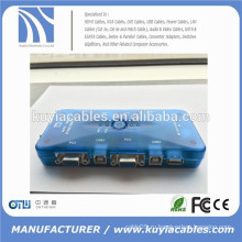 4 порта Auto USB2.0 KVM переключатель Mini Auto USB KVM-переключатель