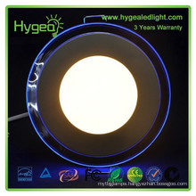 2015 hot sales Round Blue+white color led panel light 18w Dimmable Color changing led panel light price