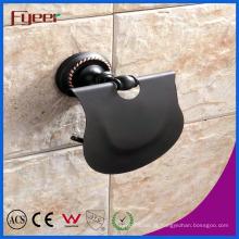 Titular de rolo de papel higiênico de encaixes de banheiro série preto Fyeer