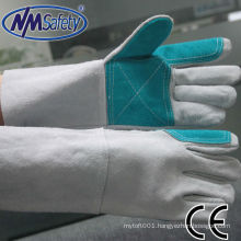 NMSAFETY grey cow split leather welder glove