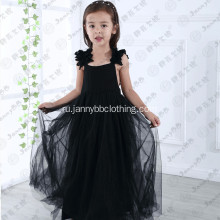 100% polyester fabric girls long maxi dress
