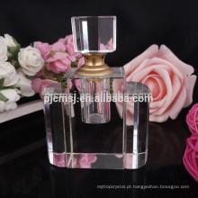 Charmosa fábrica de porcelana fabricante de garrafa de perfume de diamante de cristal rosa