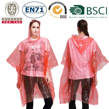 Poncho colorati per adulti PE Rain