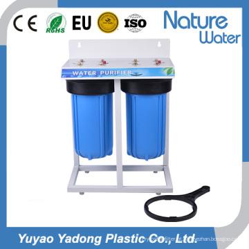 Filtro de água de dois estágios com prateleira de ferro