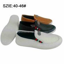Novo estilo de moda masculina deslizamento em sutura pu sapatos casuais (mp16721-23)
