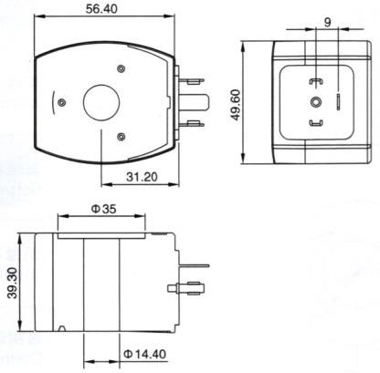 Dimension of BB14439333 Solenoid Coil: